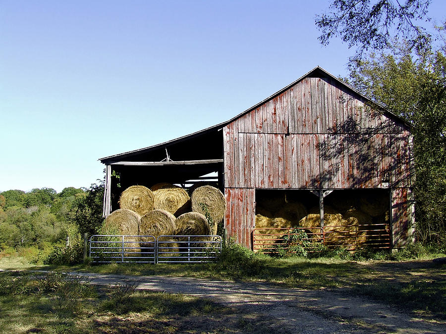 Tennessee Hay Barn Photograph  - Tennessee Hay Barn Fine Art Print