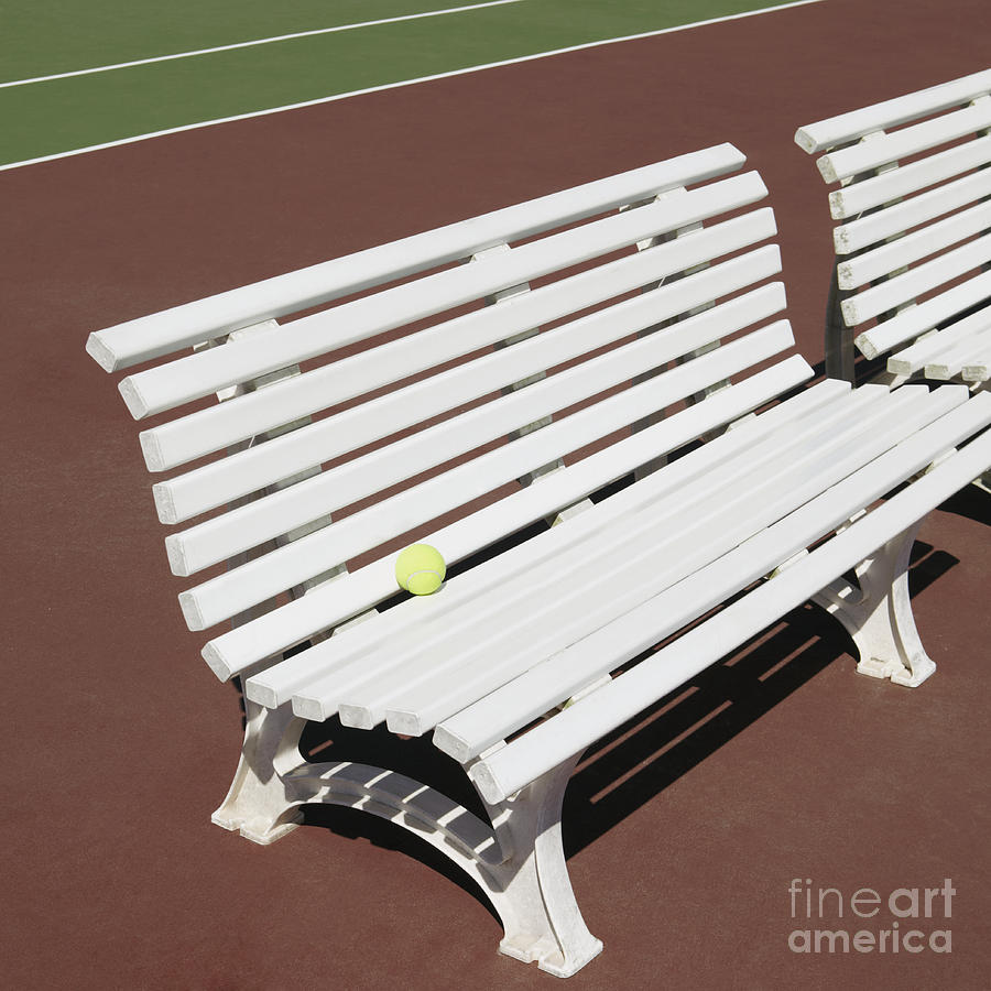 Tennis Court Benches By Skip Nall
