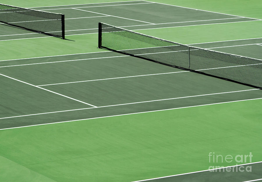 Tennis Court Photograph