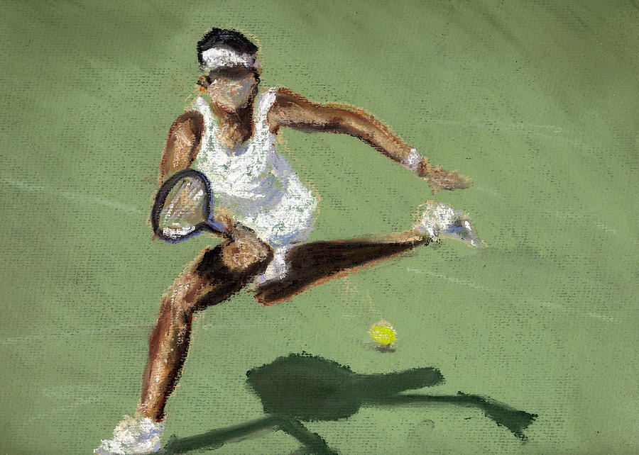 Tennis In The Sun Pastel  - Tennis In The Sun Fine Art Print