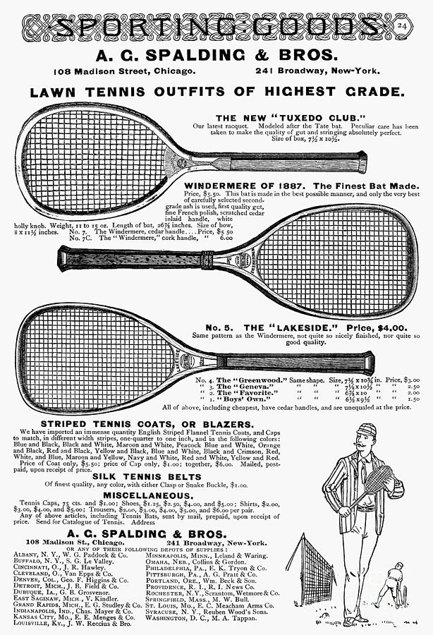 Tennis Rackets, 1887 Photograph