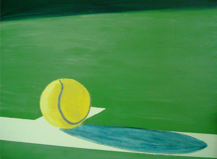 Tennis Reflections Painting  - Tennis Reflections Fine Art Print