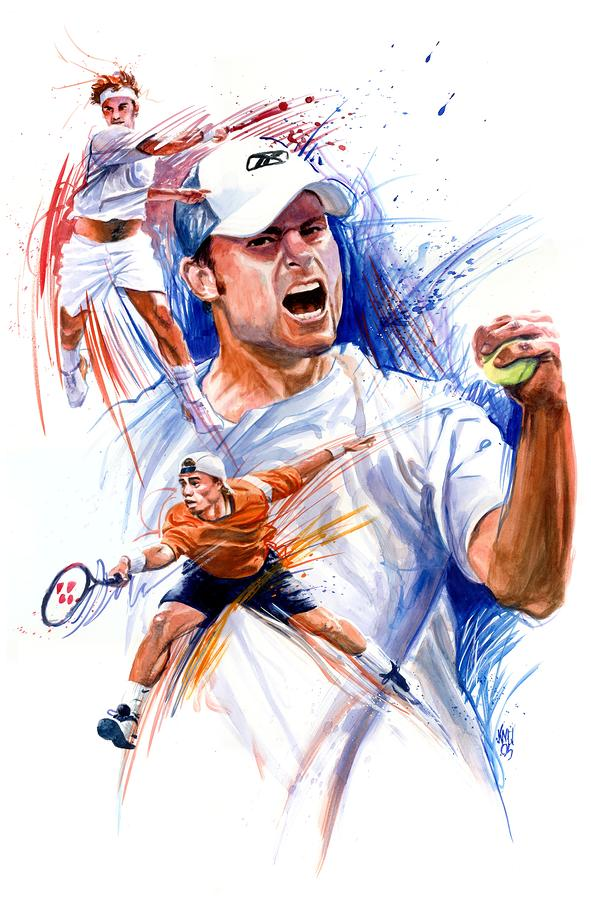Tennis Snapshot Painting