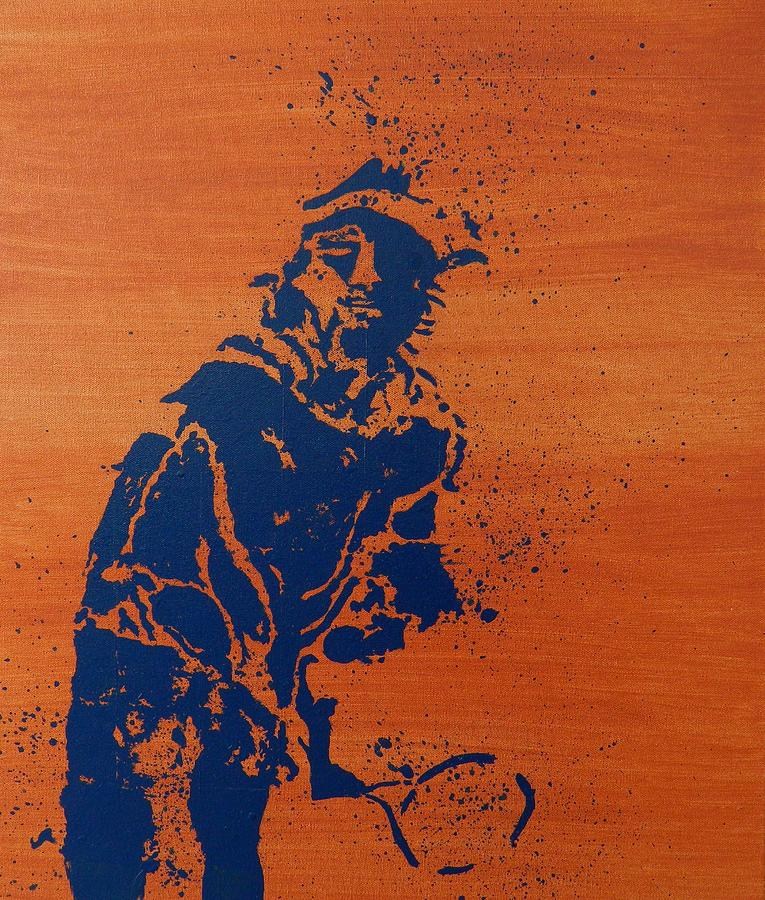 Tennis Splatter Painting  - Tennis Splatter Fine Art Print