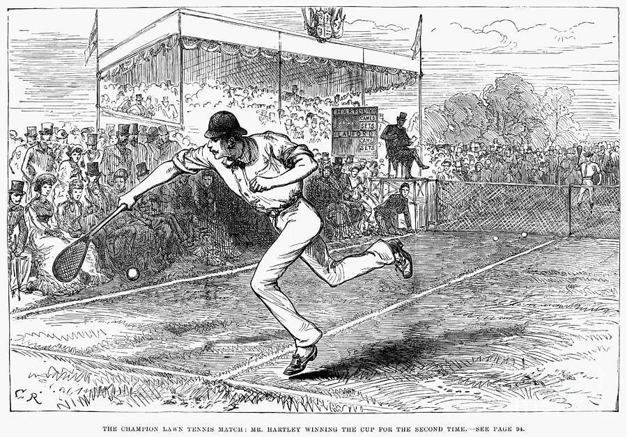 Tennis: Wimbledon, 1880 Photograph