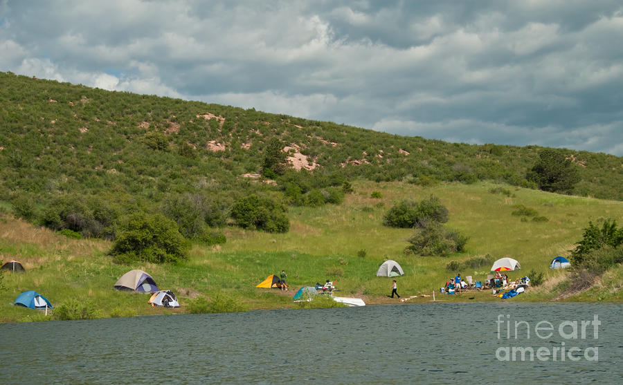 Horsetooth Reservoir Photograph - Tent Camping At Horsetooth Reservoir by Harry Strharsky