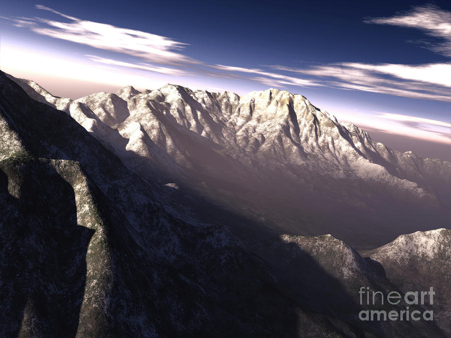 Terragen Render Of Kitt Peak, Arizona Digital Art