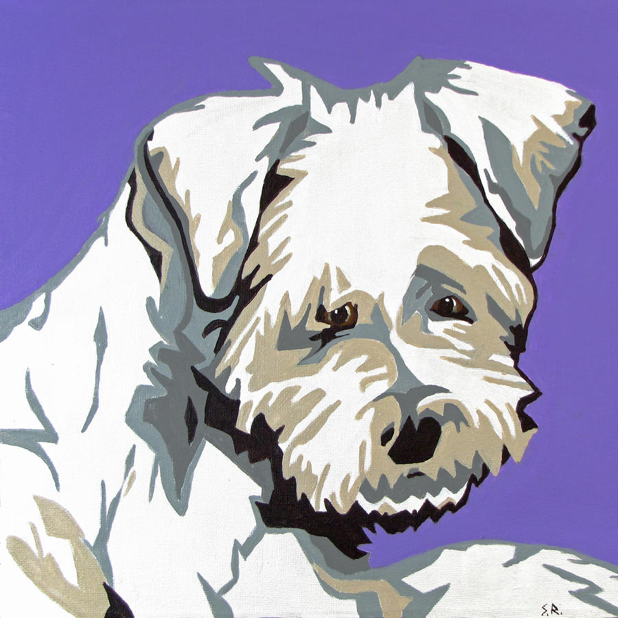 Terrier Mix Painting