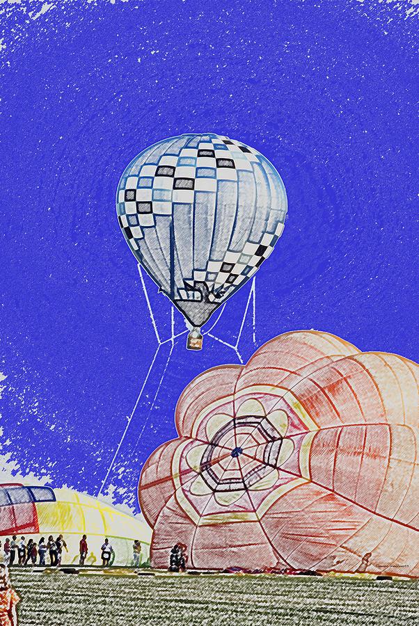 Tethered Hot Air Balloon Photograph