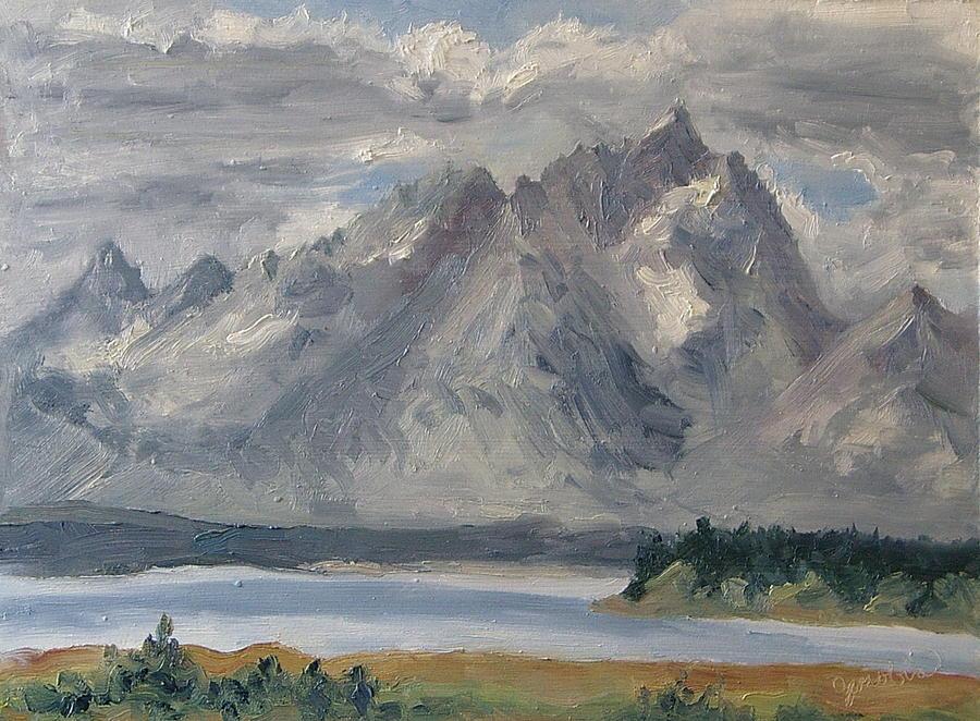 Teton Morn Painting