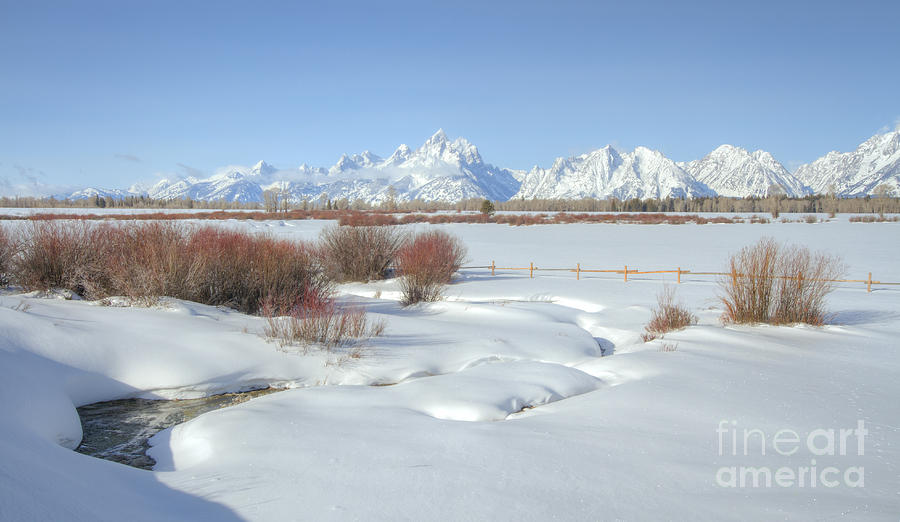 Teton Snow Photograph