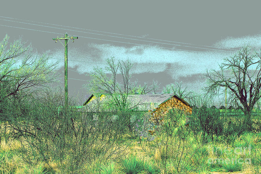 Texas Farm House - Digital Painting Photograph