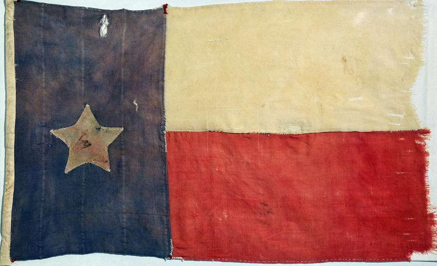 Texas Flag, 1842 Photograph  - Texas Flag, 1842 Fine Art Print