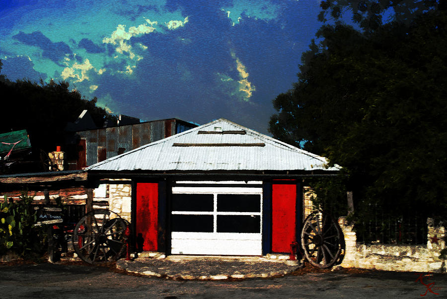 Kelly Rader Photograph - Texas Garage by Kelly Rader