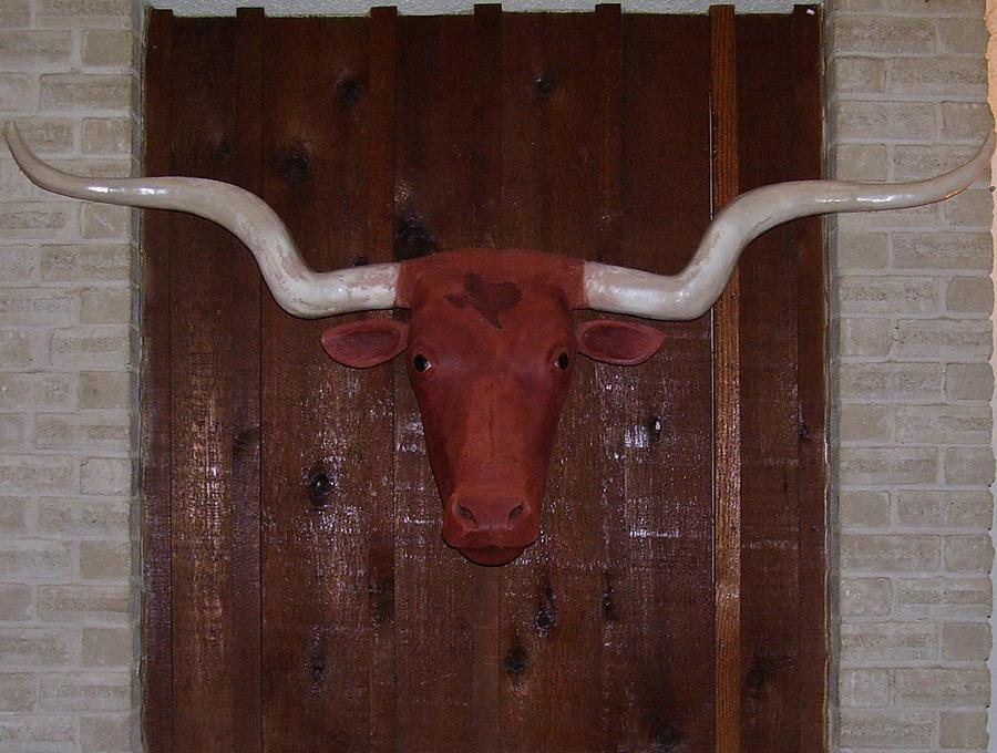 Texas Longhorn Sculpture