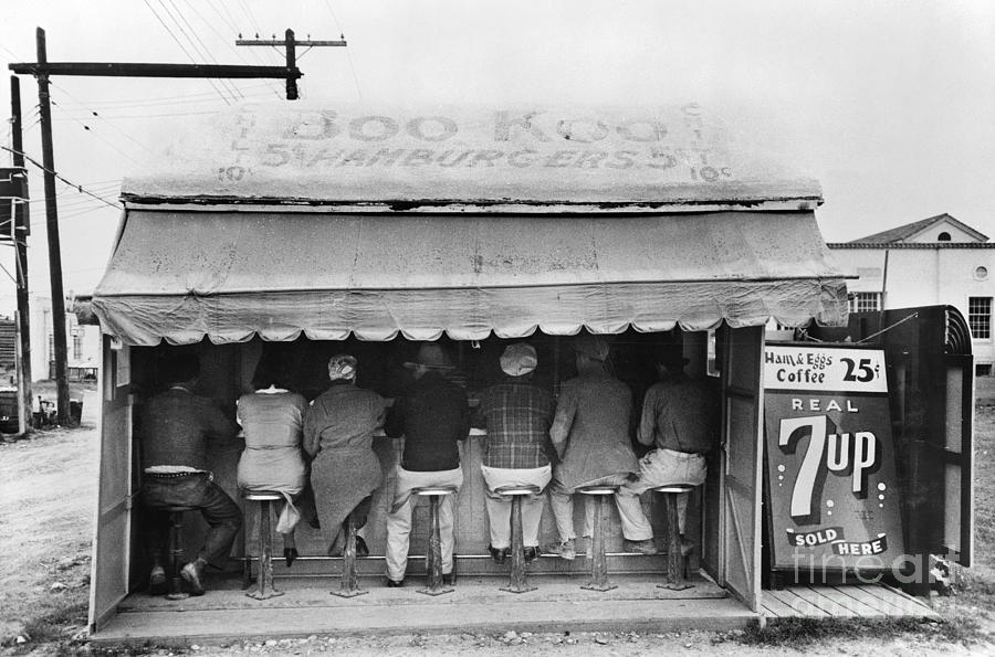 Texas: Luncheonette, 1939 Photograph  - Texas: Luncheonette, 1939 Fine Art Print