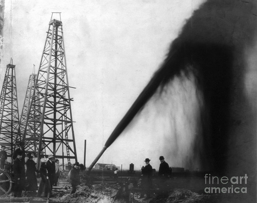 Texas: Oil Derrick, C1901 Photograph