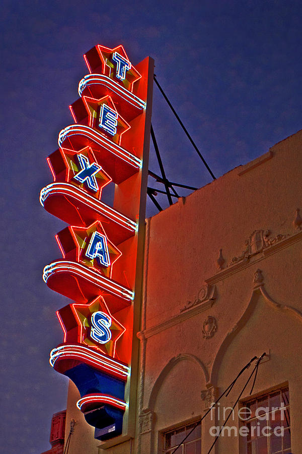 Texas Theater Restored Photograph  - Texas Theater Restored Fine Art Print