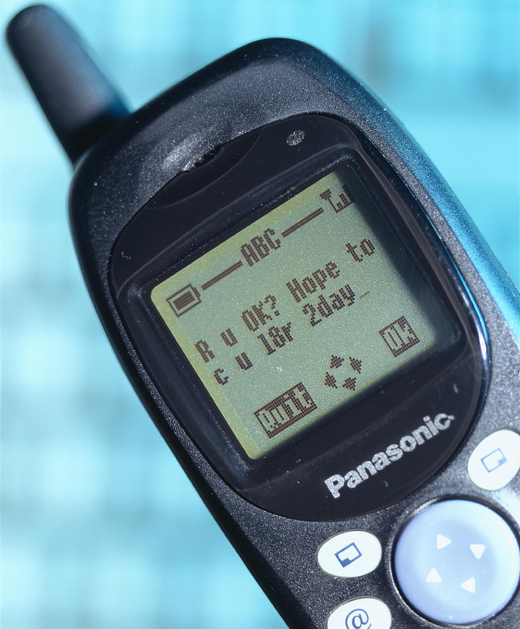 Communications Technology Photograph - Text Message by Sheila Terry