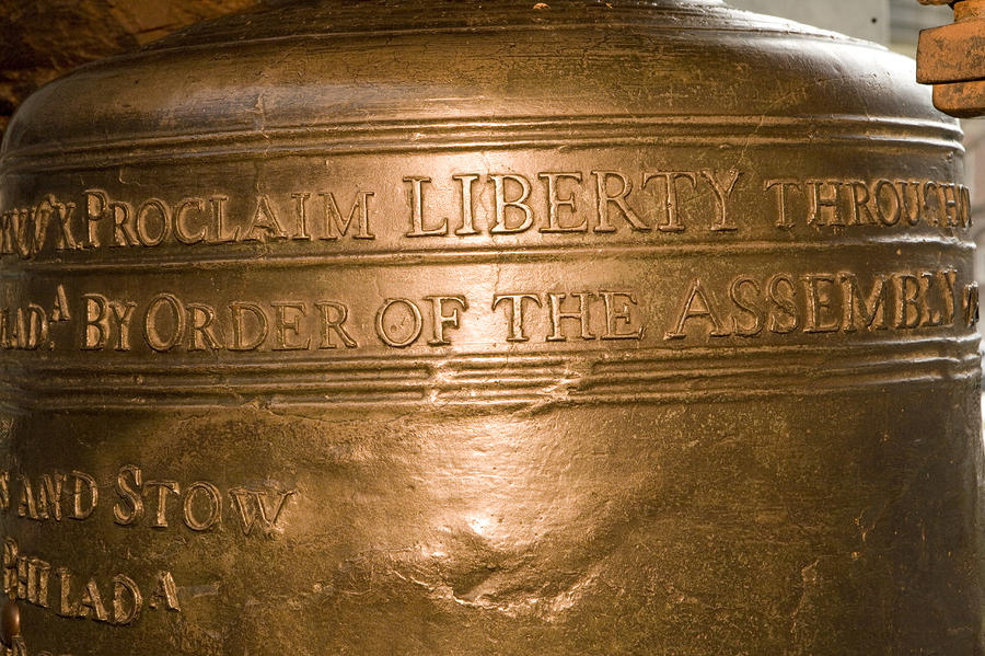 Text On The Liberty Bell Photograph