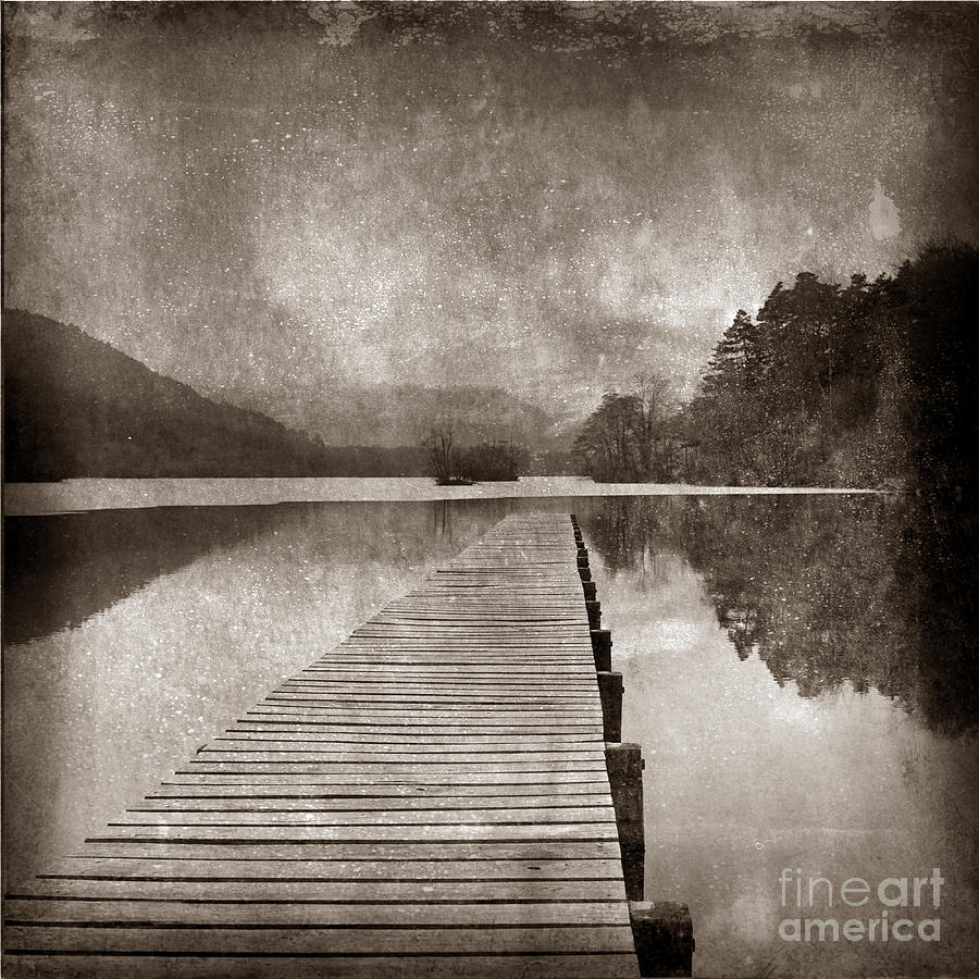 Textured Lake Photograph  - Textured Lake Fine Art Print