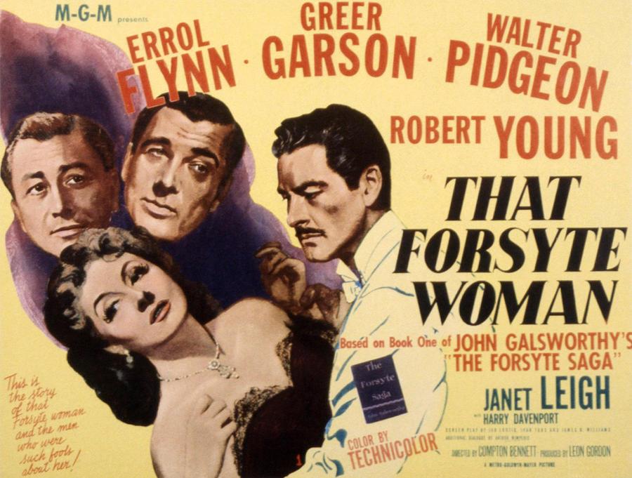 1940s Movies Photograph - That Forsyte Woman, Greer Garson, Errol by Everett