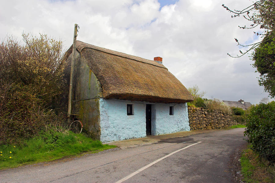 Thatch Roof Cottage Galway Photograph  - Thatch Roof Cottage Galway Fine Art Print