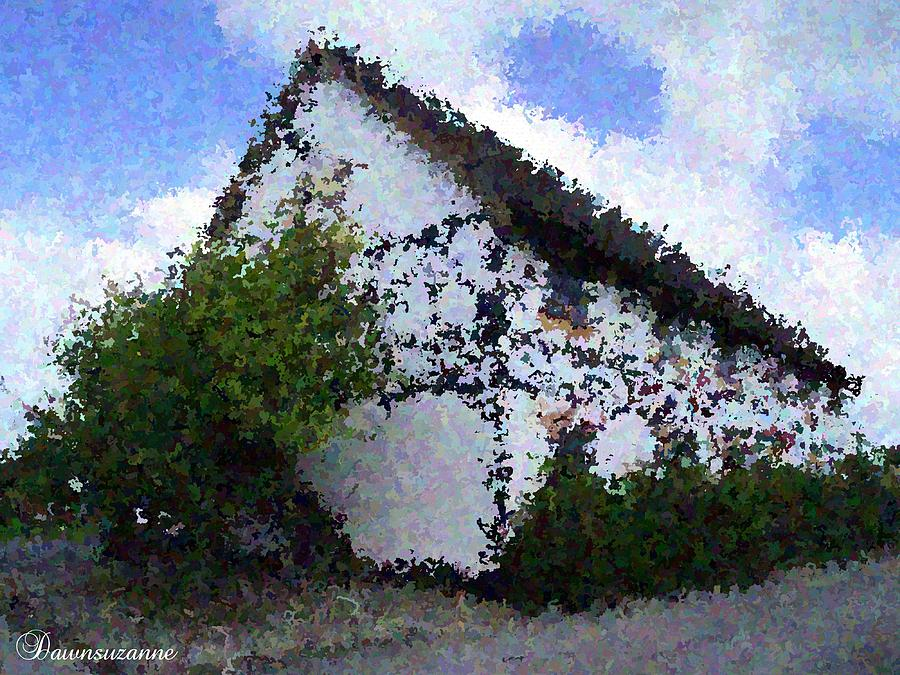Thatched Country House Impressionist Painting Photograph