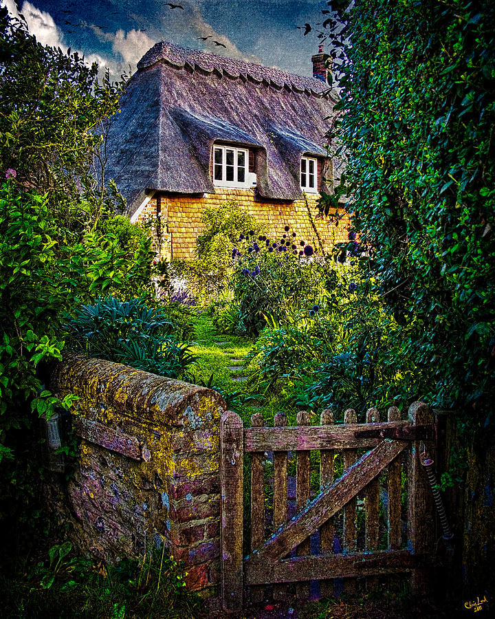 Thatched Roof Country Home Photograph