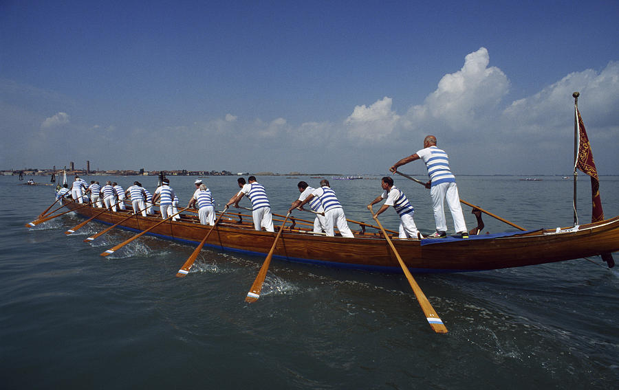Boat Races Photograph - The 20th Annual  94 Vogalonga - A 32km by Sam Abell