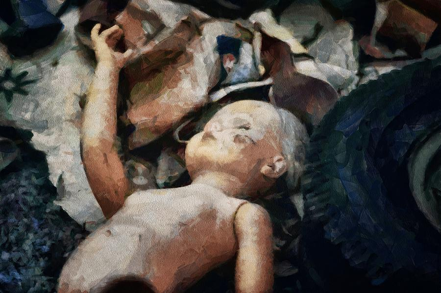 The Abandoned Doll Digital Art