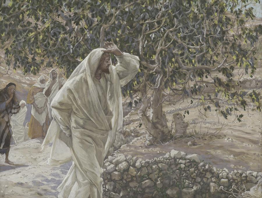 The Accursed Fig Tree Painting