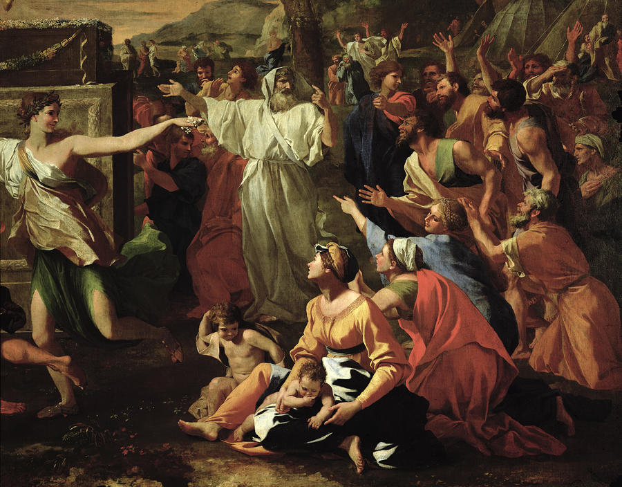 The Adoration Of The Golden Calf Painting