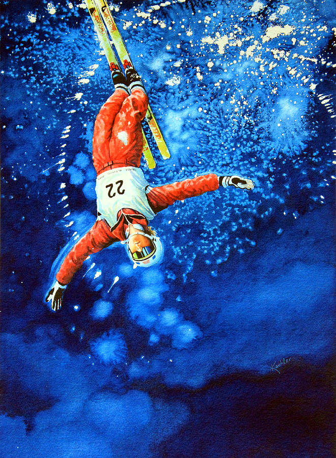 The Aerial Skier 20 Painting