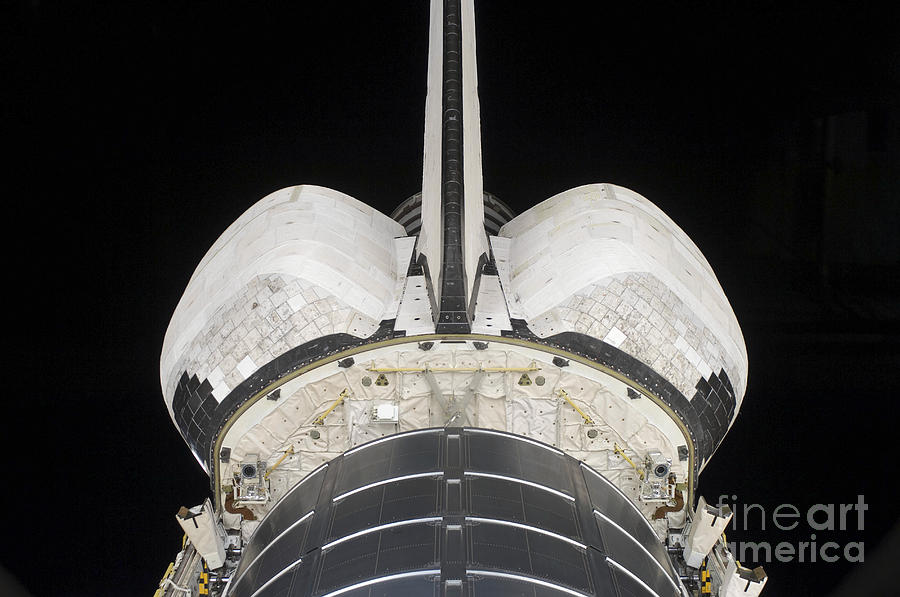 The Aft Portion Of The Space Shuttle Photograph  - The Aft Portion Of The Space Shuttle Fine Art Print