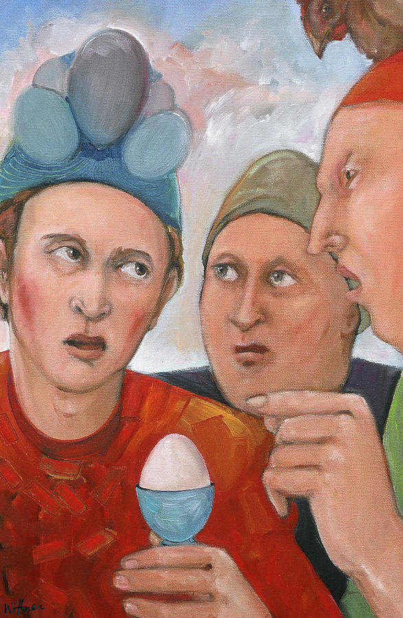 The Age Old Debate Painting