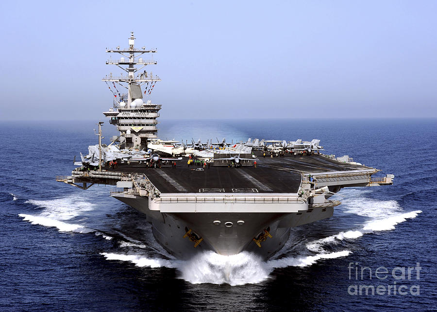 The Aircraft Carrier Uss Dwight D Photograph