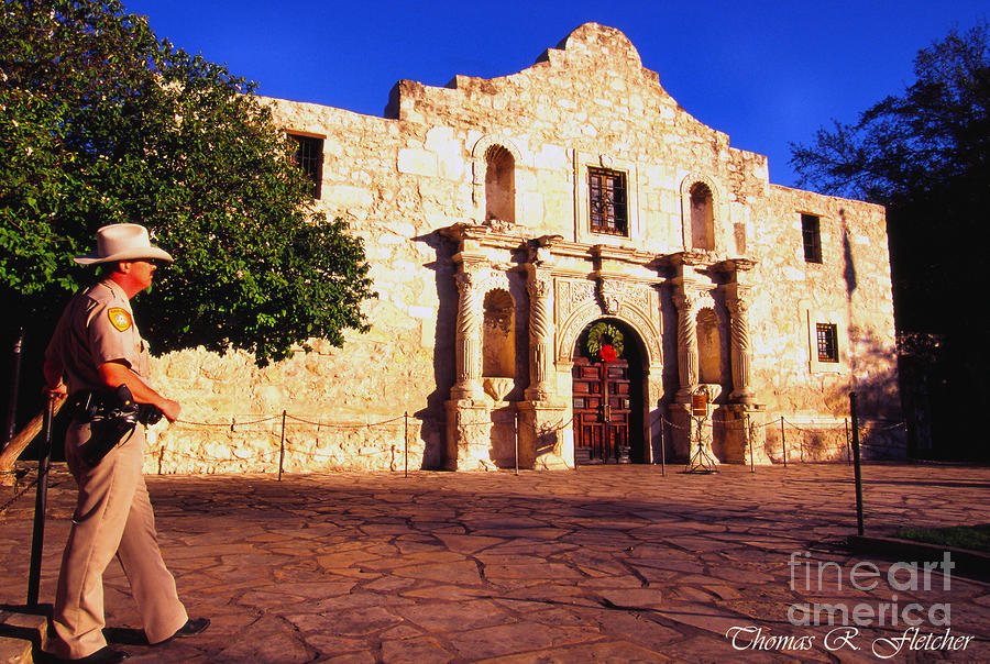 The Alamo And Ranger Photograph  - The Alamo And Ranger Fine Art Print