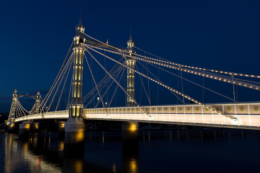 The Albert Bridge London Photograph  - The Albert Bridge London Fine Art Print