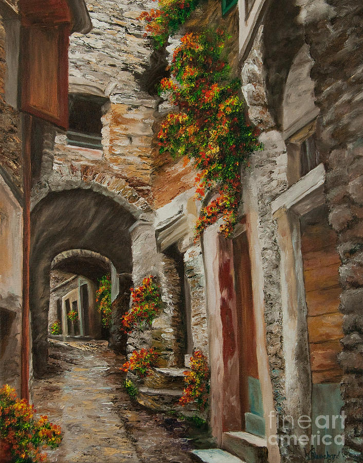 The Alleyway Painting  - The Alleyway Fine Art Print