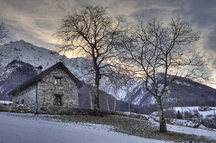 The Alps In Winter Photograph  - The Alps In Winter Fine Art Print