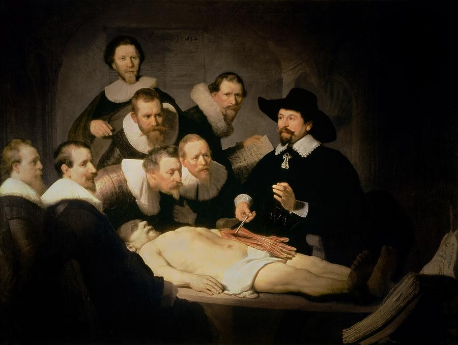 The Anatomy Lesson Of Doctor Nicolaes Tulp Painting  - The Anatomy Lesson Of Doctor Nicolaes Tulp Fine Art Print