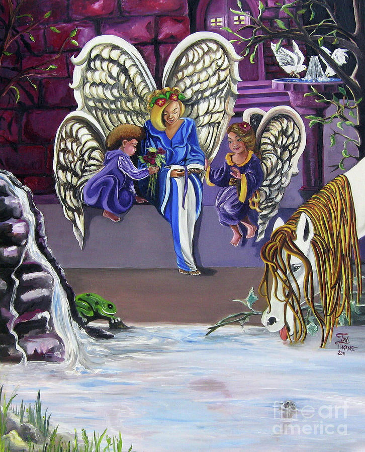 The Angels Painting  - The Angels Fine Art Print