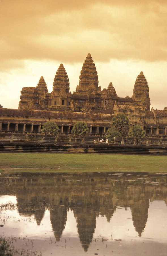 The Angkor Wat Temples In Siem Reap Photograph