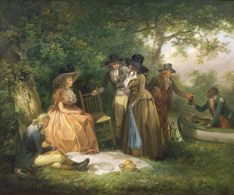 The Painting - The Anglers Repast  by George Morland