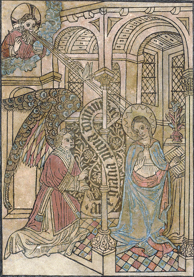 1400s Photograph - The Annunciation, Depicting by Everett