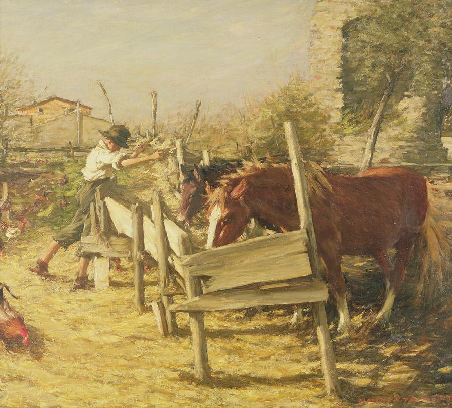 The Appian Way Painting - The Appian Way by Henry Herbert La Thangue