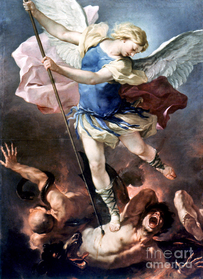 The Archangel Michael Painting  - The Archangel Michael Fine Art Print
