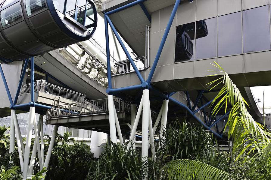 The Area Below The Capsules Of The Singapore Flyer Photograph