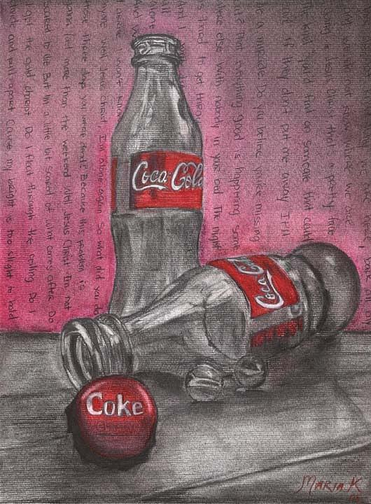 The Art Of Coca Cola Pastel  - The Art Of Coca Cola Fine Art Print